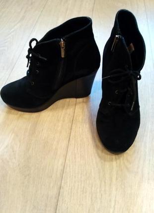 Натуральная замша! ботинки