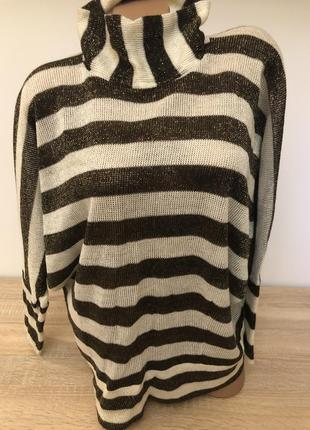 Чудесный свитер вискоза с люрексом