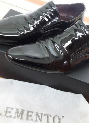 Мужские лаковые туфли clemento