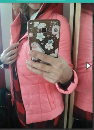 Куртка новая неонова рожевп