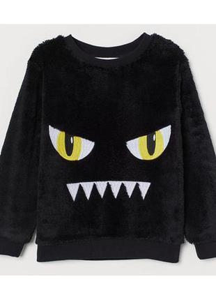 H&m детский флисовый джемпер свитшот для мальчика на 2-4 года