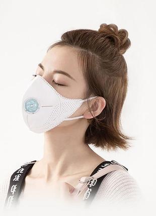 Xiaomi airpop light 360° white  защитная маска респиратор с клапаном pm2.5 ffp2 fp95 f95