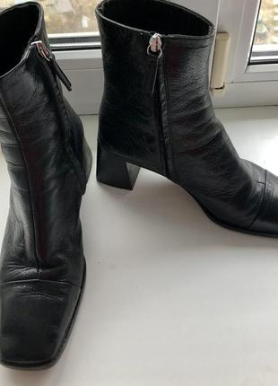 Кожаные ботинки topshop с прямым носом