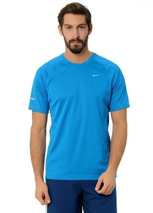 Пушечная футболка для зала от nike miler ss uv 519698 413 mens t-shirt
