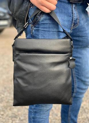 Мужская сумка на плечо tiding bag / барсетка / сумочка / черная