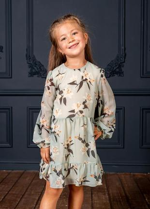 Нарядное шифоновое платье на девочку
