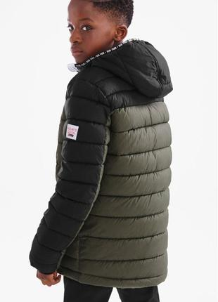 Фирменная теплая куртка c&a, зимняя с флисом, р. 158, германия, качество