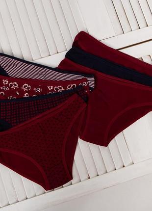 Трусики женские 7 штук комплект набор слипы трусы хлопок труси жіночі
