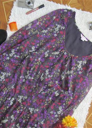 Квітчаста блуза-туніка,великі розміри,акція!при покупці двох речей на третю знижка 50%