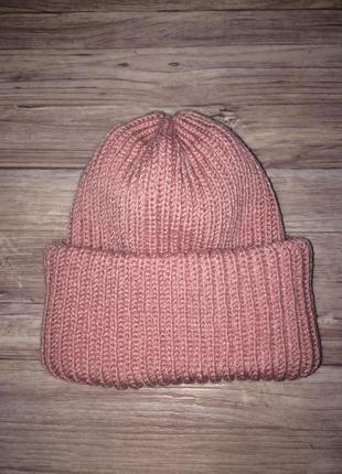 Объёмная шапка такори зима