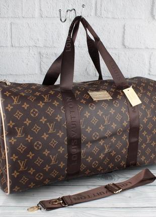 Дорожная сумка, саквояж  41412 коричневая на 37 л