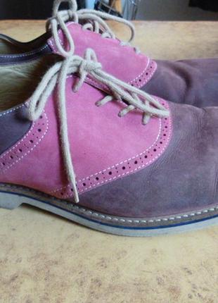 """Туфли нубуковые, стильные, бренд """"1901""""  )к61 фото"""