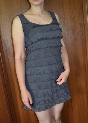 Короткое шифоновое платье h&m