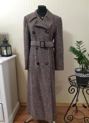 Пальто миди весна/ осень 70% шерсть ланы