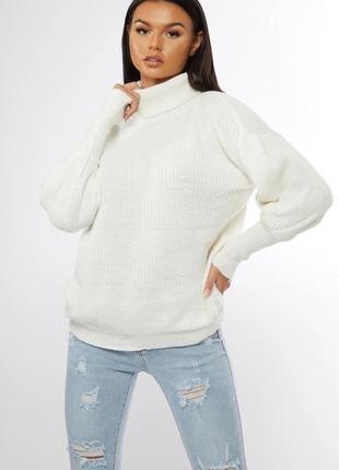 Белый свитер 😍iconic desire💖размер s