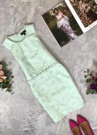 Красивое платье с нежного гипюра  dr1916042 topshop