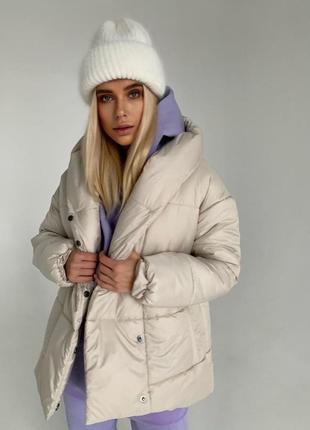 Женская зимняя куртка zefir {белая} жіноча зимова куртка {біла}