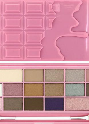 Тени makeup revolution pink fizz chocolate