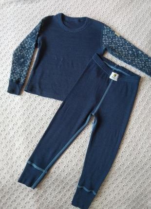 Комплект термобілизни з мериносової шерсті термо реглан штани леггинсы термобелье