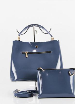 Кожаная сумка шоппер + клатч