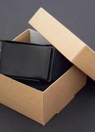 Тканевый черный ремень в подарочной упаковке