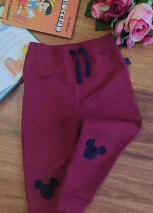 Классные теплые штанишки, брючки disney на 1,5-2 года