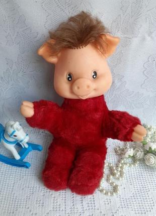 Хрюшка мягкая игрушка ссср свин свинка донецкого завода игрушек