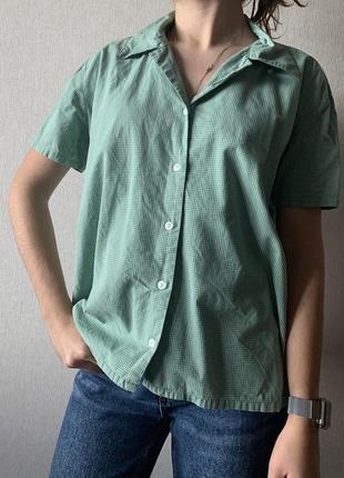 Бавовняна сорочка в клітинку