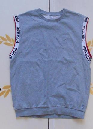 Moschino свитшот без рукавов,спортивная безрукавка.размер м