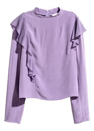 Стильная укороченная блуза с сатиновым эффектом h&m