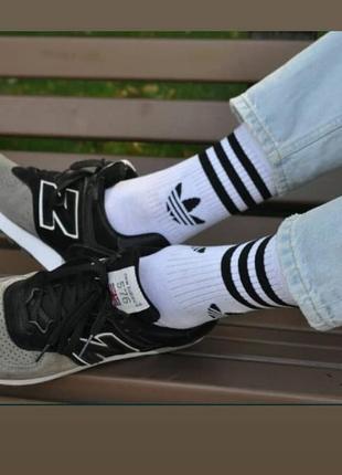 Унисекс  высокие демисезонные носки/адидас/adidas/ турция