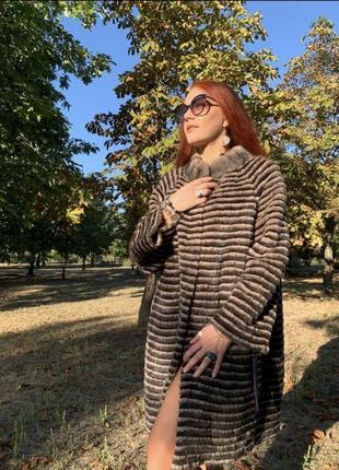 Шикарная шуба пальто на кашемире из меха норки