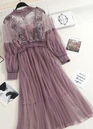 Нарядное платье фатиновое сетка