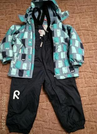 Зимний комбинезон (куртка и штаны)+шапка этой же фирмы