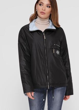 Черная куртка ветровка