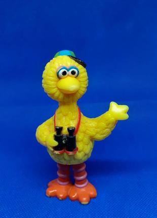 Статуэтка страус фотограф птичка цыпленок птенец фигурка пластик