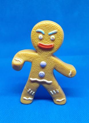 Статуэтка пряничный человечек фигурка динамичная пластик
