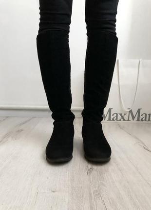 Замшевые ботинки сапоги сапожки 36 размер замш