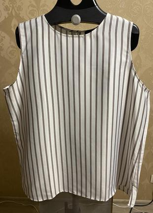 Майка блузка ann taylor в полоску5 фото