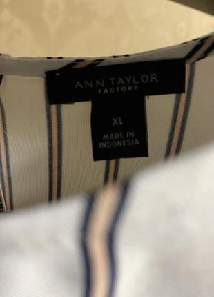 Майка блузка ann taylor в полоску2 фото