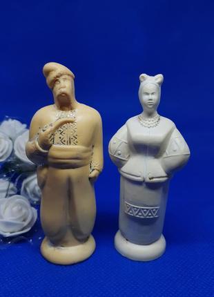 Статуэтка фигурка пара карась и одарка ссср бакелит хуторок