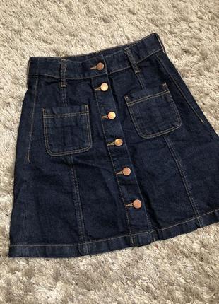 Классная джинсовая юбка от h&m