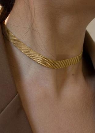 Винтажный ретро универсальный металлический чокер ожерелье колье из металла браслет