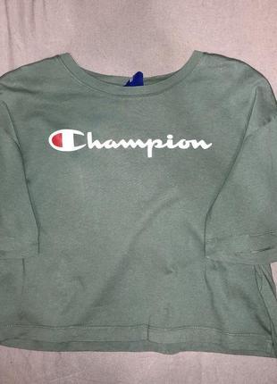 Женская футболка цвета хаки champion 2020