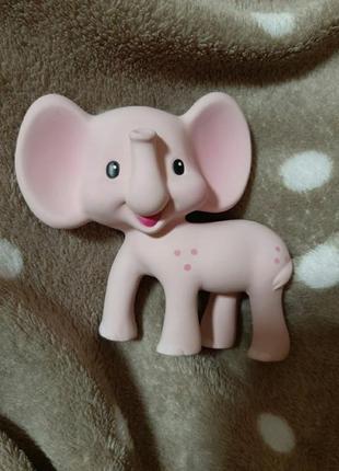 Прорезователь розовый слоненок infantino