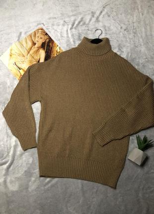 Крутой актуальный свитер оверсайз с горлом