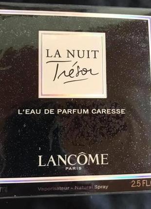 Женская парфюмированная вода la nuit tresor de parfum caresse 75 мл