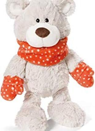 Медвежонок nici (германия)  плюшевый мишка медведь  в шарфике и рукавицах оригинал