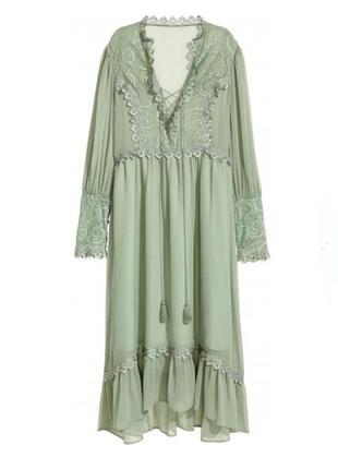Красивое романтичное кружевное платье h&m в ретро стиле