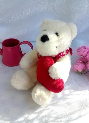 """Мини мишка """"валентин"""" с сердцем, медвежонок плюшевый медведь"""